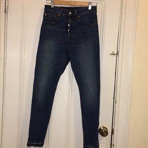 Levi's 501 Skinny Jeans (Size 26)